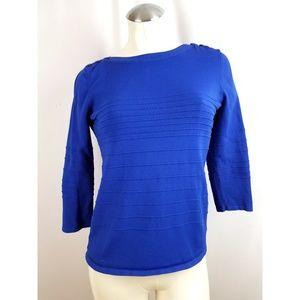 Cable & Gauge Size M Blue Knit Top